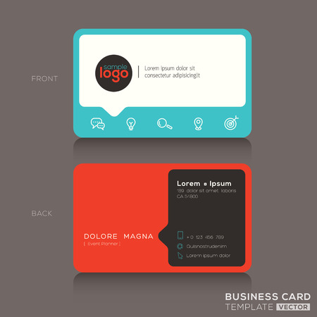 namecard: Modern trendy business card design template