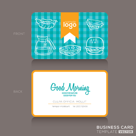 abstract business: Business cards Design template for bakery shop or cafe