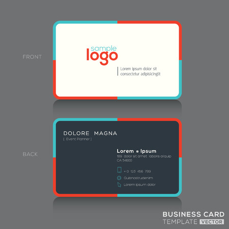 namecard: Modern simple business card design template