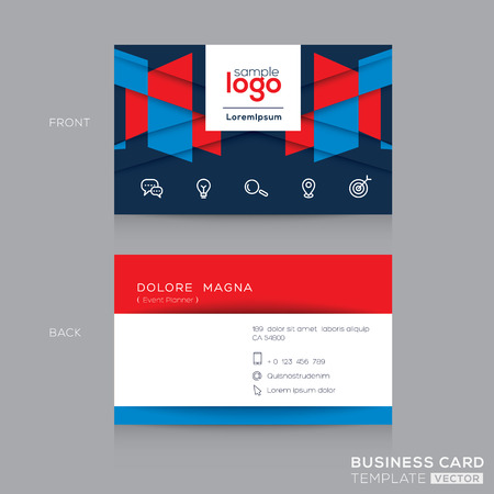 namecard: Abstract Business card Design Template