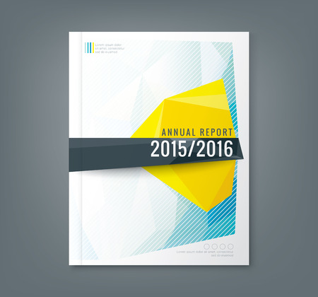 profile: Abstract low polygonal shape background for corporate  business annual report book cover brochure flyer poster Illustration