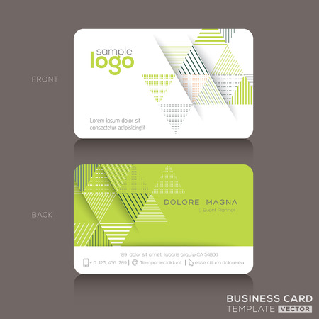 technology abstract background: Modern trendy business card design template