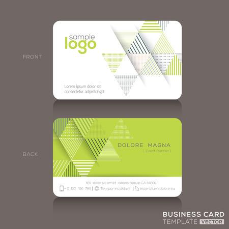 Modern trendy business card design template
