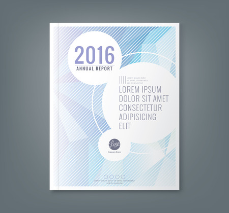report cover design: Abstract low polygonal shape background for corporate  business annual report book cover brochure flyer poster Illustration