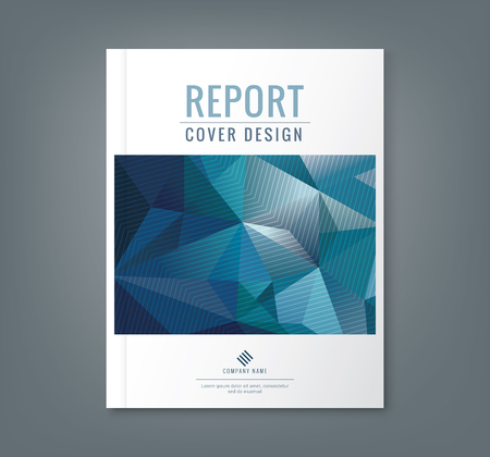 Abstract low polygonal shape background for corporate  business annual report book cover brochure flyer poster Ilustracja