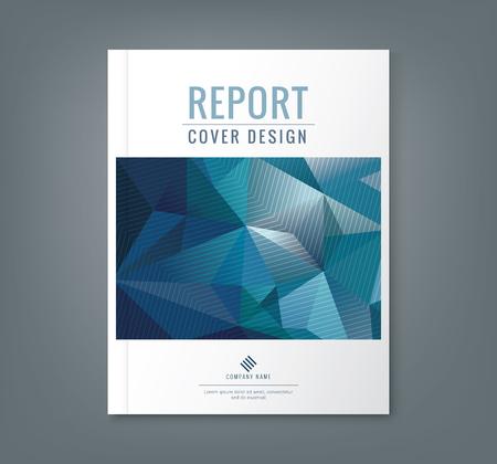 portadas: Bajo fondo forma poligonal abstracto para el negocio corporativo informe anual del cartel folleto folleto portada del libro