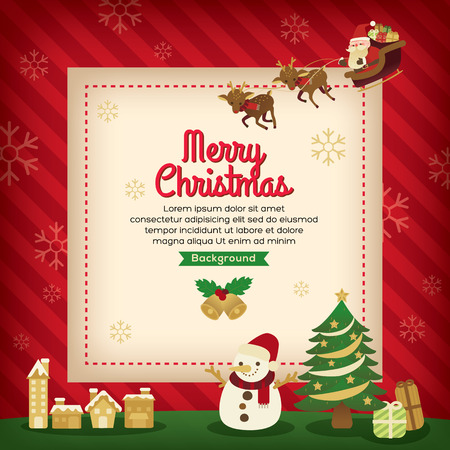 holiday background: Merry Christmas holiday card background design Illustration