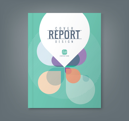 the cover: Abstract Petal shape background for corporate  business annual report book cover brochure flyer poster