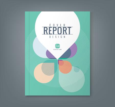 Résumé Pétale forme de fond pour le rapport annuel des affaires de l'entreprise affiche la couverture du livre brochure flyer