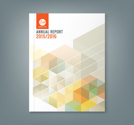 Abstract hexagon cube pattern background design for corporate business annual report book cover brochure flyer poster 向量圖像