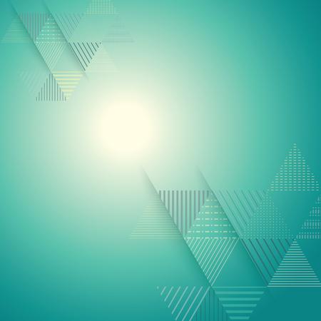 türkis: abstrakt Dreieck Linie Streifenmuster mit hellen Licht Vektor Hintergrund Illustration
