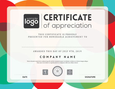 Modern certificate background frame design template