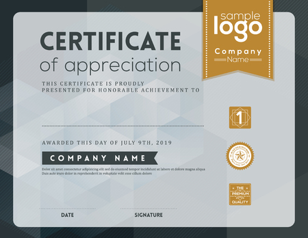 decorative border: Modern certificate background frame design template