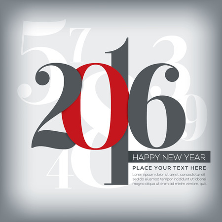 happy holidays: 2016 happy new year greeting with numbers background