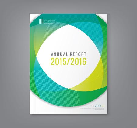 Resumen mínima círculo alrededor de formas geométricas de diseño de fondo para el informe anual de carteles volante cubierta de libro de negocios folleto Ilustración de vector