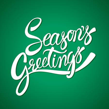 estaciones del año: Saludos de las estaciones letras de la mano vector de la caligrafía Vectores