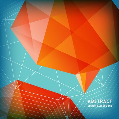 brain shape: Abstract Low Polygonal Brain Shape Vector Background