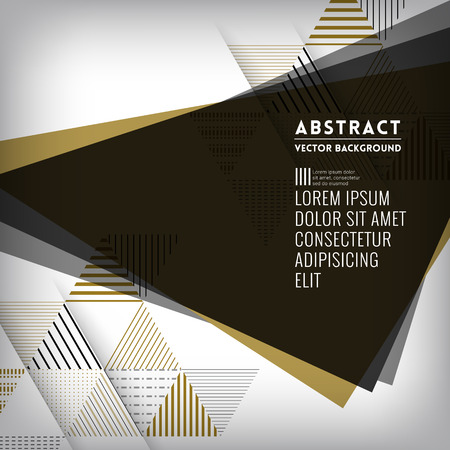 black gold: Abstract black triangle Shape Background for Business  Web Design  Print  Presentation