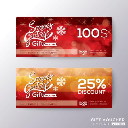 cadeaubon seizoen groet voucher coupon kaart achtergrond sjabloon