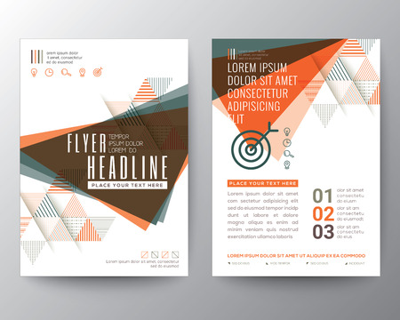 magazine page: Abstract Triangle shape Poster Brochure design Layout template in A4 size
