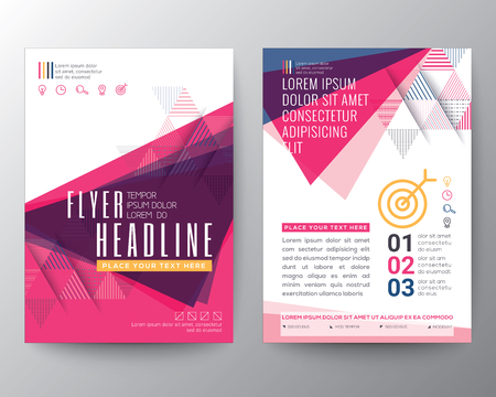 Abstract Triangle shape Poster Brochure design Layout template in A4 size Stok Fotoğraf - 51059498