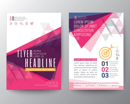 astratto: Manifesto astratto Brochure modello di progettazione di layout forma Triangolo A4