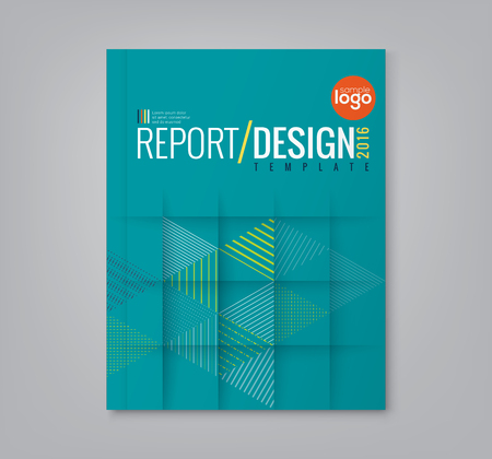 page design: Abstract minimal geometric triangle shapes design background for business annual report book cover brochure poster