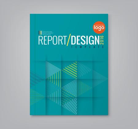 diseño: Triángulo geométrico mínimo extracto forma de diseño de fondo para los negocios informe anual del cartel folleto portada del libro