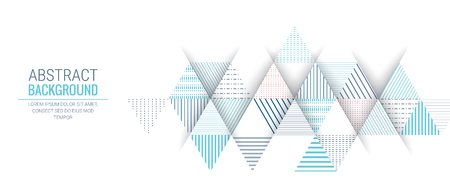 abstract blue triangle line stripe pattern vector background