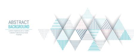 abstracte blauwe driehoek lijn streep patroon vector achtergrond