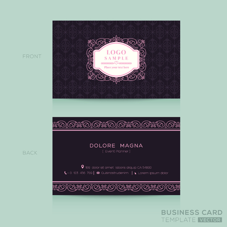 simple frame: Classic vintage Business card namecard Design Template