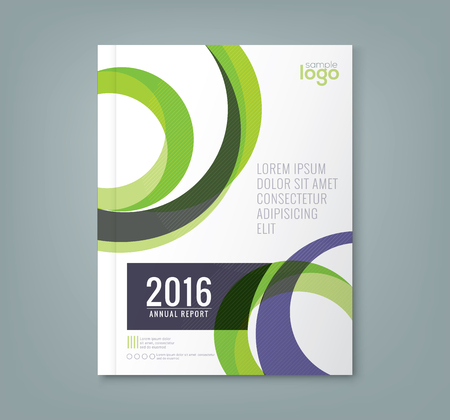 report cover design: Abstract minimal geometric round circle shapes design background for business annual report book cover brochure flyer poster