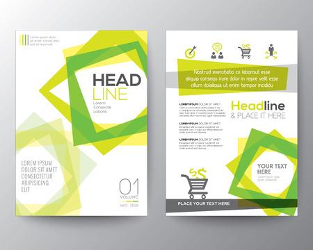 Abstracte vierkante vorm achtergrond voor Poster Brochure Flyer ontwerp lay-out vector sjabloon in A4-formaat