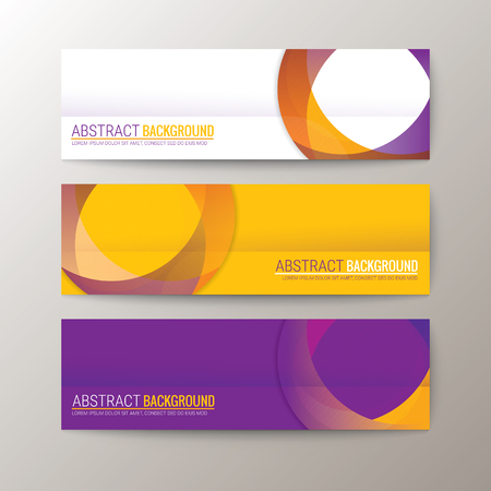 circle abstract: Set of modern design banners template with abstract circle shape pattern background