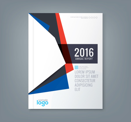profile: Abstract minimal geometric shapes design background for business annual report book cover brochure flyer poster Illustration