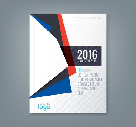 Résumé minimale formes géométriques fond conception pour le rapport annuel d'affaires affiche couverture du livre brochure flyer Vecteurs