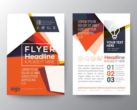 A4 크기 추상 삼각형 모양 포스터 책자 전단 디자인 레이아웃 벡터 템플릿 스톡 콘텐츠 - 52578097