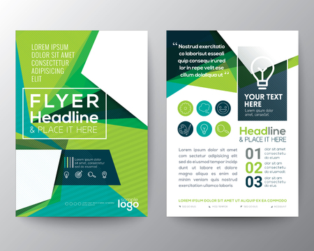 leaflet design: Abstract Triangle shape Poster Brochure Flyer design Layout vector template in A4 size