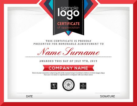 Moderne certificaat abstracte grafische achtergrond frame design template