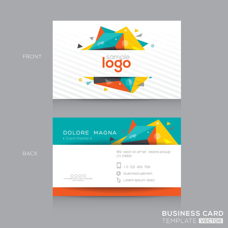business card design: Abstract Business card Design Template