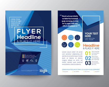 Abstract Blue Triangle shape background for Poster Brochure
