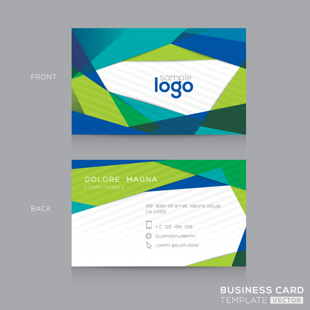 blue and green: Abstract modern Blue Green Business card Design Template