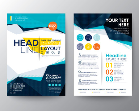 Abstract low polygon triangle shape background for Poster Brochure Flyer design Layout vector template in A4 size