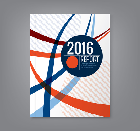 curved: Abstract curved line design background template for business annual report book cover brochure flyer poster