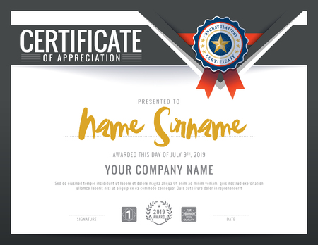 Modern certificate with polygonal background design template royalty modern certificate triangle shape background frame design template vector yadclub Image collections
