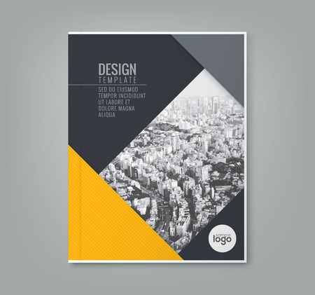 minimal simple yellow color design template background for business annual report book cover brochure poster