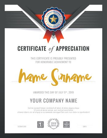 modern background: Modern certificate triangle shape background frame design template