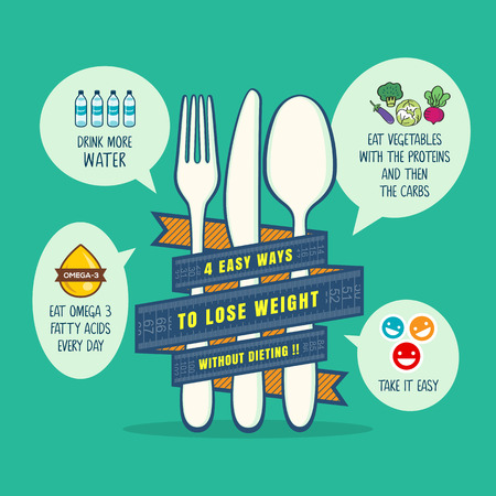 losing: tips for losing weight concept illustration