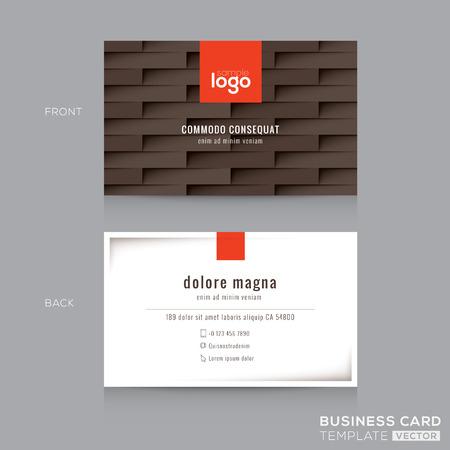 modern brown business card name card design template Vektorové ilustrace