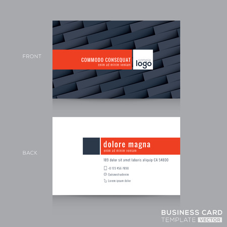 modern donkergrijs visitekaartje visitekaartje ontwerp sjabloon